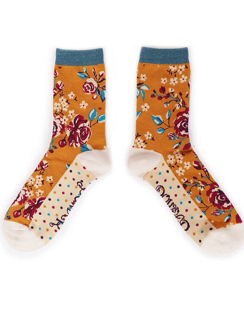 Rosebud Ankle Sock