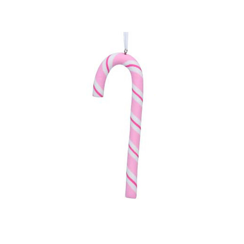 Pastel Candy Cane Decoration - Pink