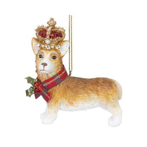 Corgie with Crown Decoration