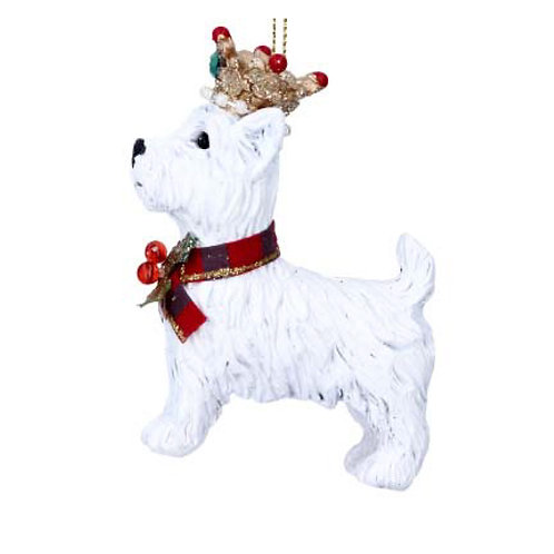 West Highland Terrier with Crown Decoration