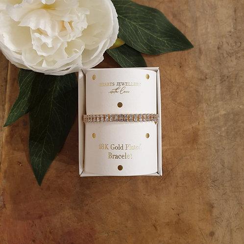 Diamante Bracelet - 18k Gold Plated