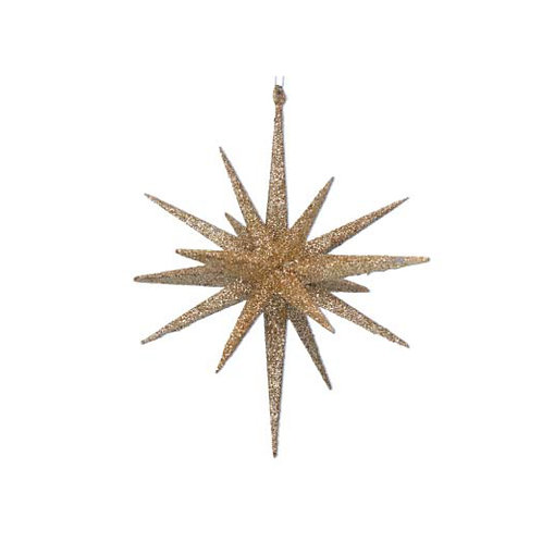 Gold Glitter Bethlehem Star Decoration