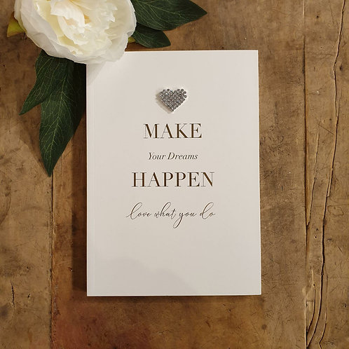 'Make your dreams happen' Medium Notebook