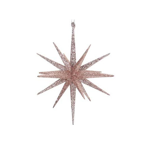 Pink Glitter Bethlehem Star Decoration