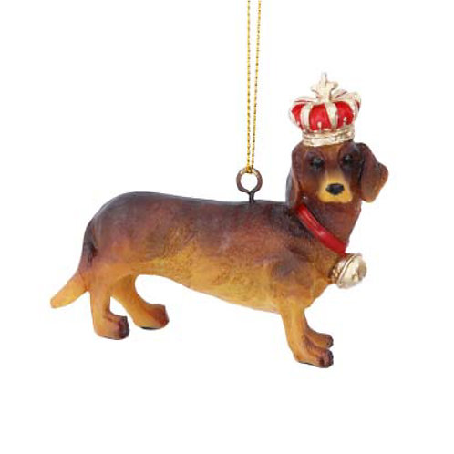 Dachshund with Crown Decoration