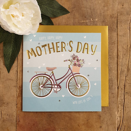 'Mother's Day' - Bicycle Mother's Day Card