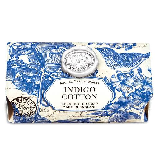 Indigo Cotton Large Soap Bar