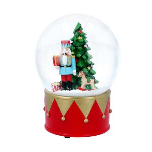 Nutcracker & Christmas Tree Musical Snow Globe