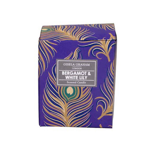 Peacock Feather Boxed Candle - Small