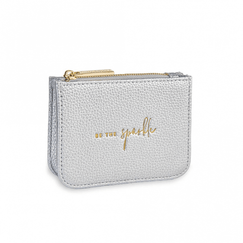 KATIE LOXTON STYLISH STRUCTURED COIN PURSE | BE THE SPARKLE |SILVER
