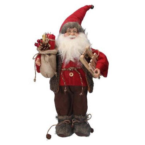 Plush Santa In Fur Boots Ornament- 45cm