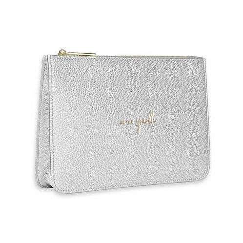 KATIE LOXTON STYLISH STRUCTURED POUCH | BE THE SPARKLE | SILVER