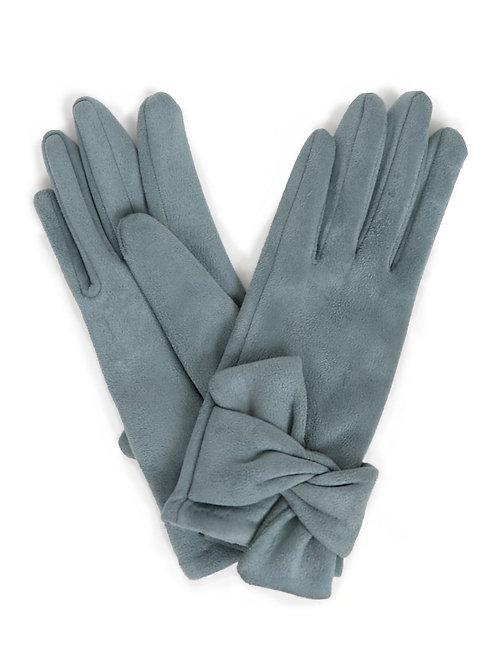 Henrietta Faux Suede Gloves - Denim