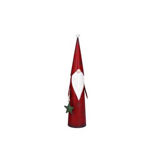 Tin Cone Santa Ornament - Small