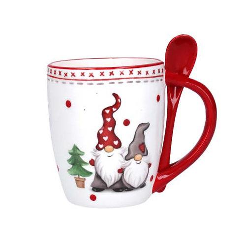Gonk Ceramic Mug & Spoon, Set of 2