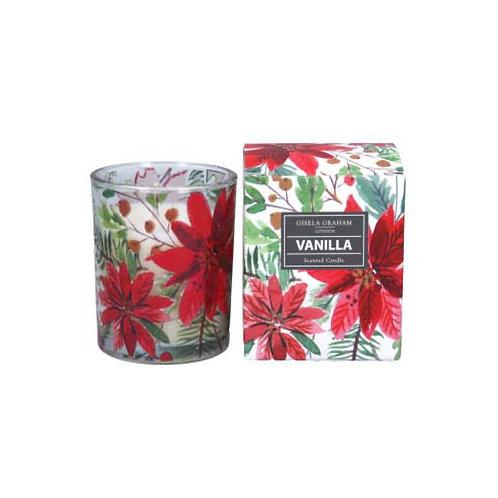 Poinsettia, Vanilla Scented Candle -Small
