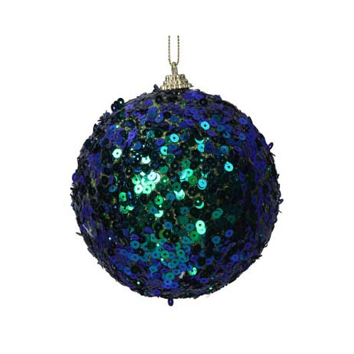 Peacock Sequin Ball Decoration