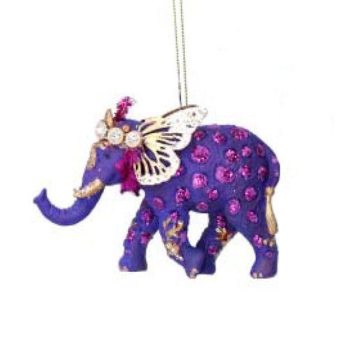 Fantasy Elephant Decoration - Purple
