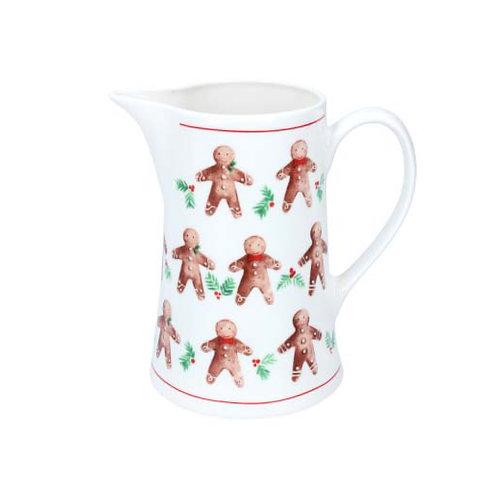 Gingerbread Men Ceramic Jug