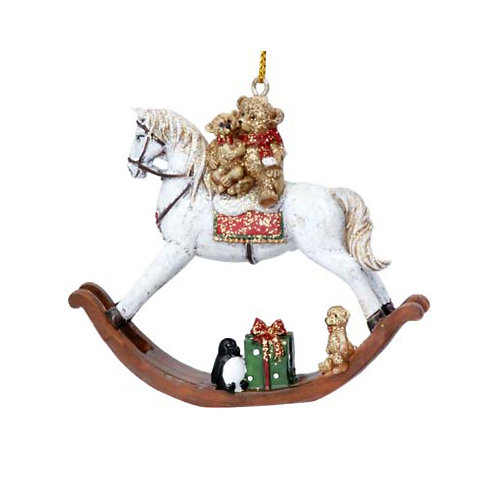 Teddy on Rocking Horse Decoration