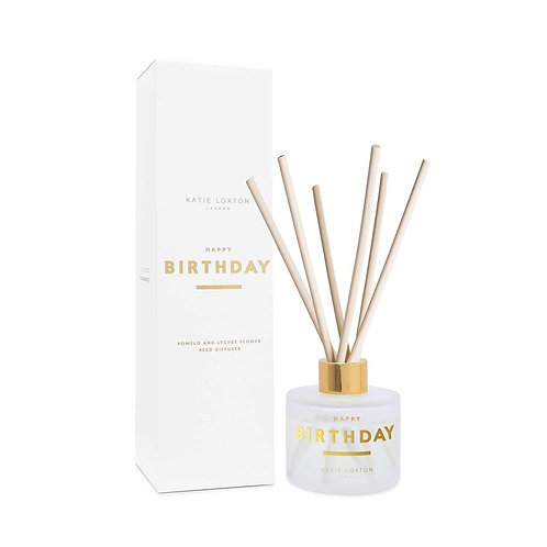 Katie Loxton - 'Happy Birthday' Reed Diffuser - Pomelo & Lychee Flower