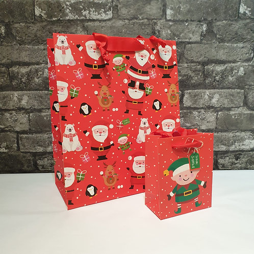 Large Luxury Red Character Gift Bag