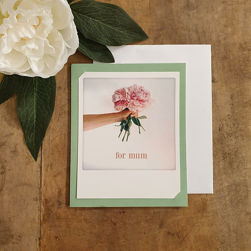 'For mum' - Mother's Day Card