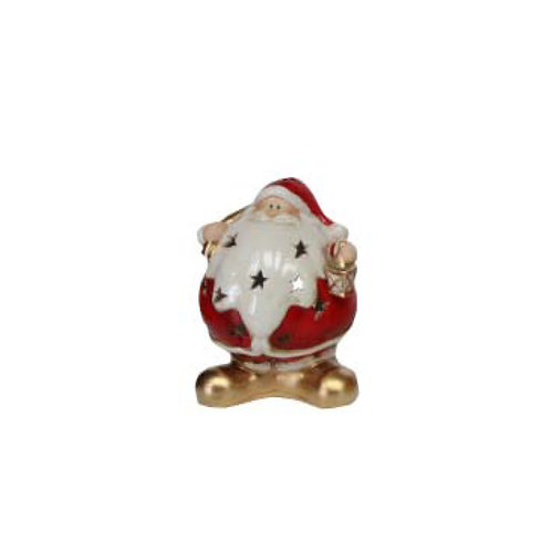 Round Ceramic Santa Tealight Holder