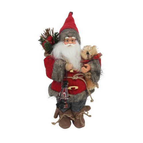 Plush Santa With Teddy Ornament - 30cm