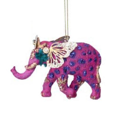 Fantasy Elephant Decoration - Pink