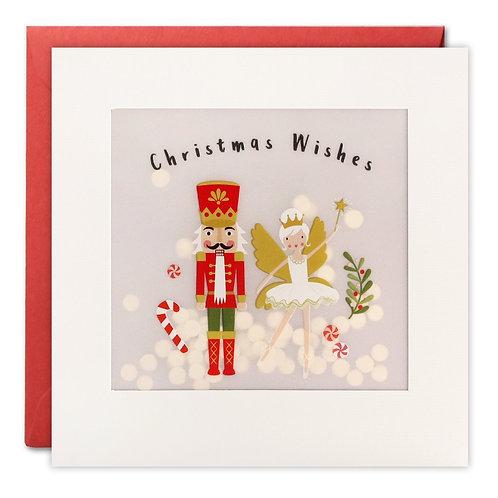 Nutcracker Christmas Paper Shakies Card