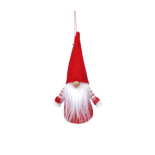 Red and White Fabric Santa Gonk Decoration