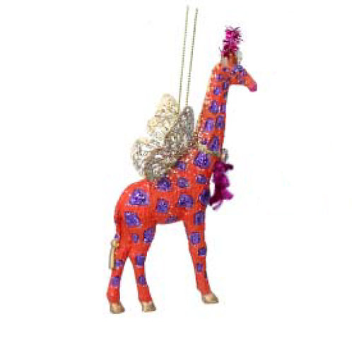 Fantasy Giraffe Decoration - Orange