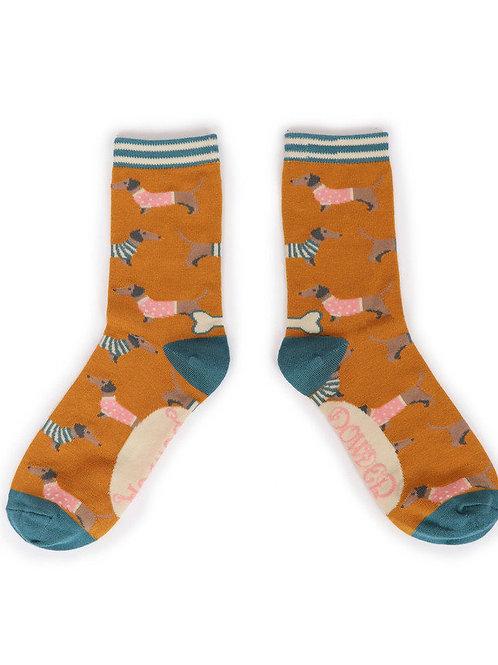 Jumper Sausage Dog Ankle Sock