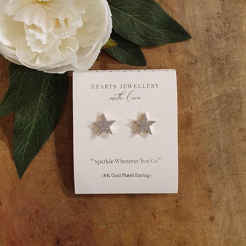 Star Earrings - 18k Gold Plated