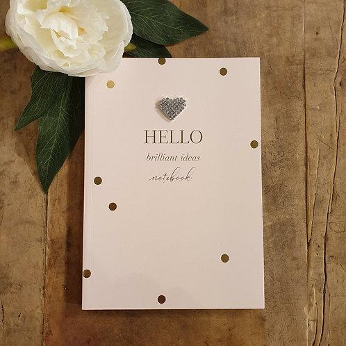 'Hello brilliant ideas' Medium Notebook