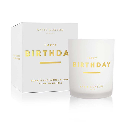 Katie Loxton - 'Happy Birthday' Scented Candle - Pomelo & Lychee Flower