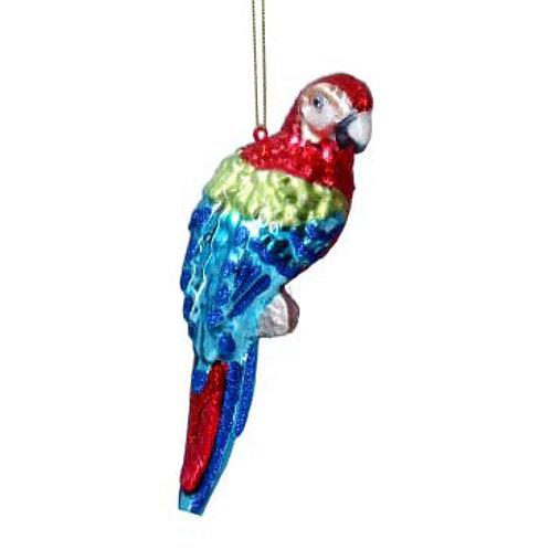 Painted Glass Parrot Decoration