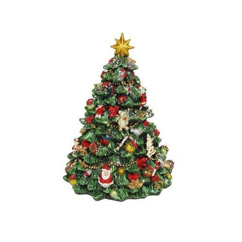 Revolving Resin Christmas Tree Musical Ornament