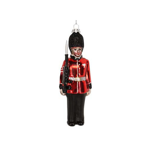 Painted Glass Soldier Decoration