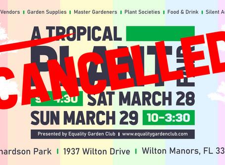 "Wilton Manors ""A Tropical Plant Fair"" Cancelled"