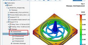 Moldex3D 평탄도 측정, 제품 주요 변형량 신속하게 평가