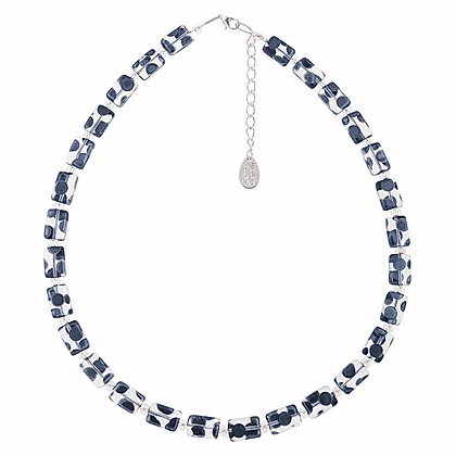 Carrie Elpseth Clear Dotty Rectangles Necklace