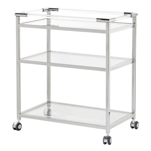 Stainless Steel & Acrylic Drinks Trolley
