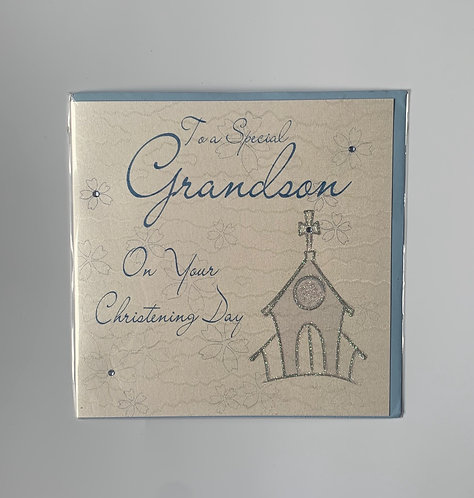 Special Grandson On Your Christening Day