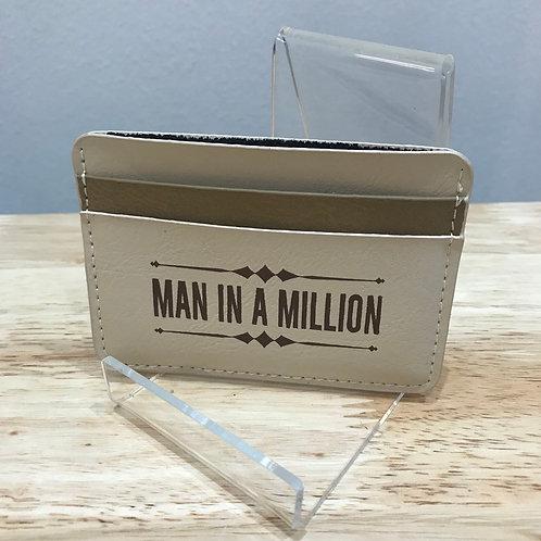 Leatherette card wallet - MAN IN A MILLION