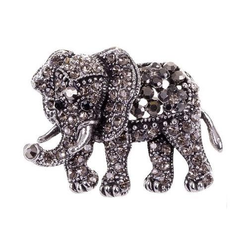 D&X - Jewelled Elephant Pin Brooch