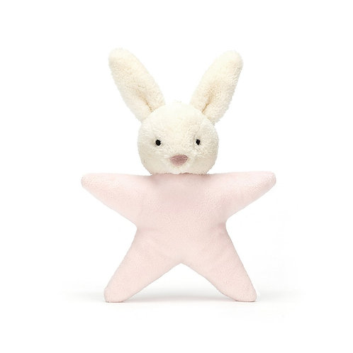 Pink Bunny Star Rattle