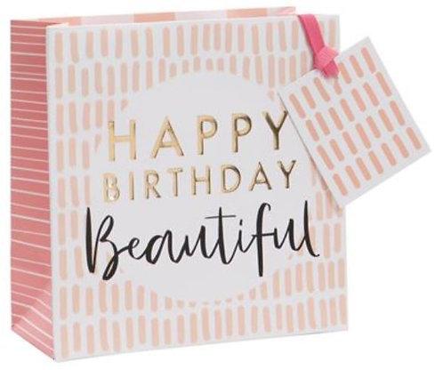 Glick - Small Happy Birthday Beautiful Gift Bag