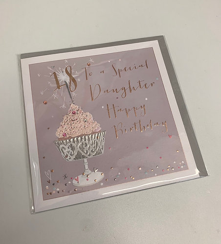 Belly Button - Special Daughter 18 (Large Card)